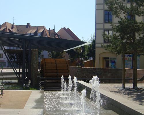 La fontaine haute