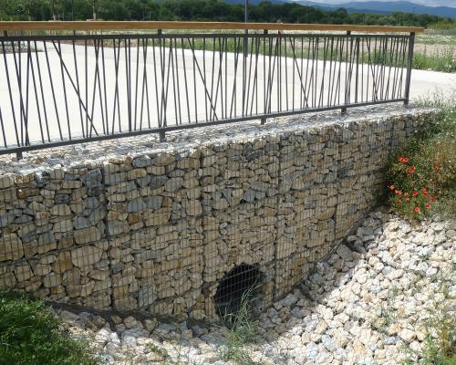 Soutènement gabion